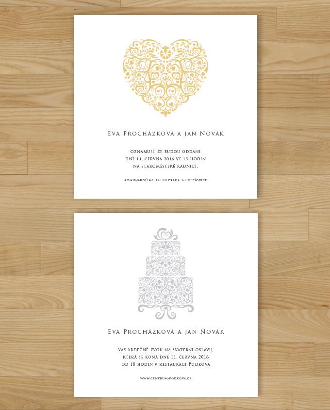 Svatební oznámení Folklor