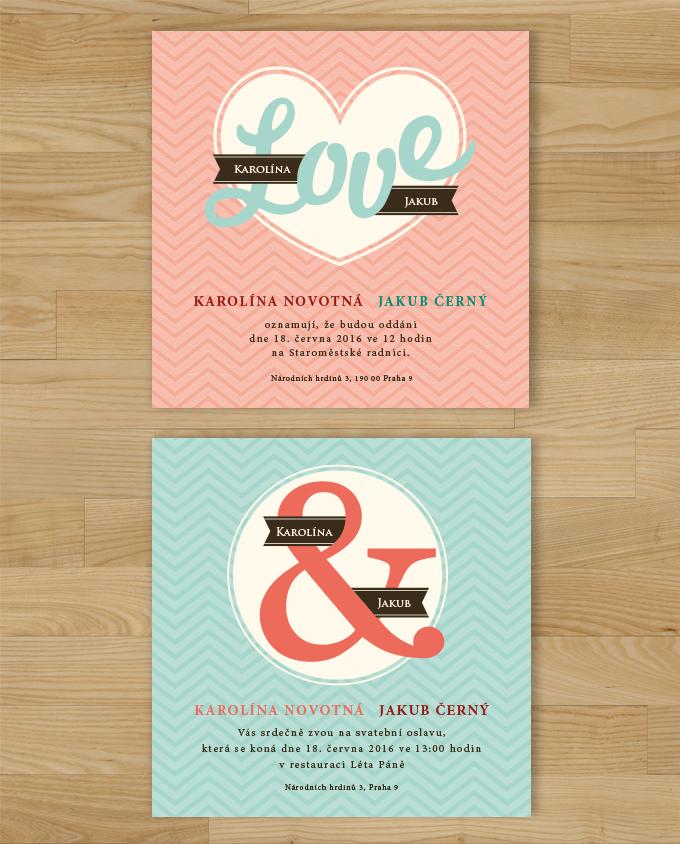 Svatební oznámení Love