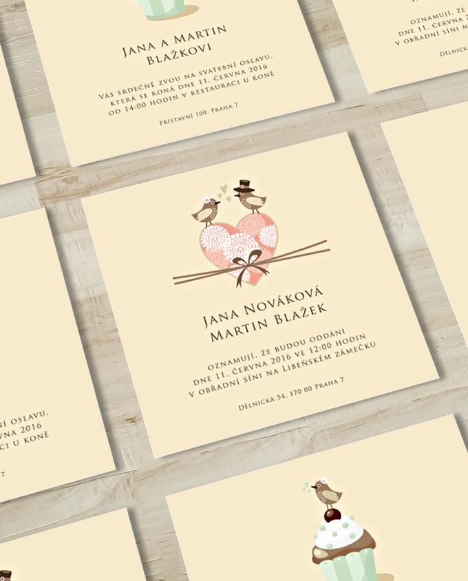 Svatební oznámení Ptáček