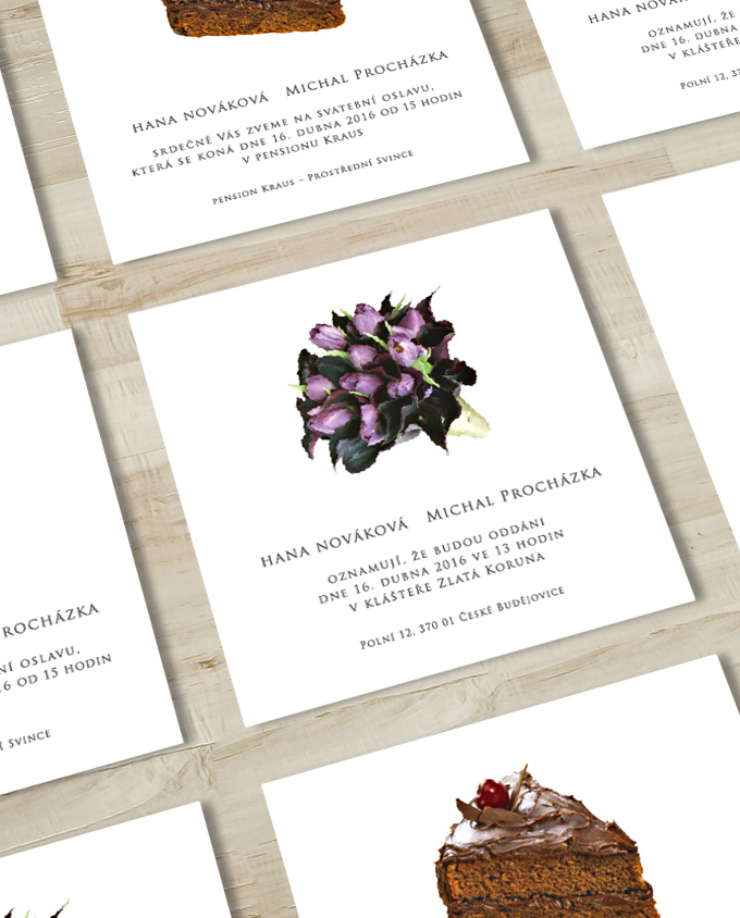 Svatební oznámení 11 tulipánů