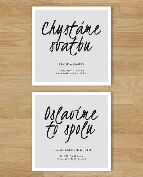Svatební oznámení Typo