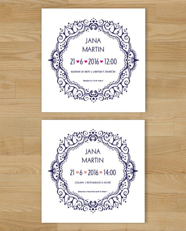 Svatební oznámení Deco 2