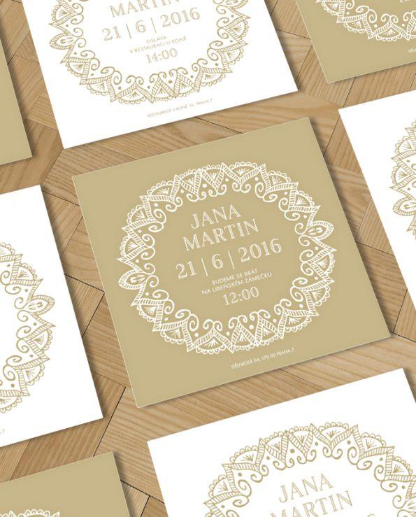 Svatební oznámení Deco