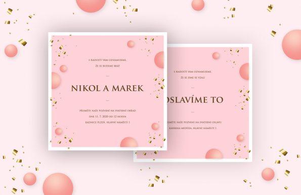 Svatební oznámení Valentýn